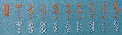 Швейная машина Husqvarna Emerald 118 - операции