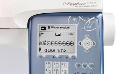 Швейная машина Husqvarna Sapphire 875 Quilt - дисплей