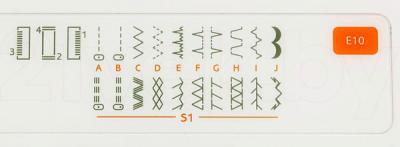 Швейная машина Husqvarna E10 - строчки