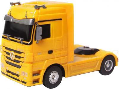 Радиоуправляемая игрушка Rui Chuang Самосвал Mercedes Benz Actros QY1101С (желтый) - без прицепа