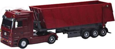 Радиоуправляемая игрушка Rui Chuang Самосвал Mercedes Benz Actros QY1101С (красный) - общий вид