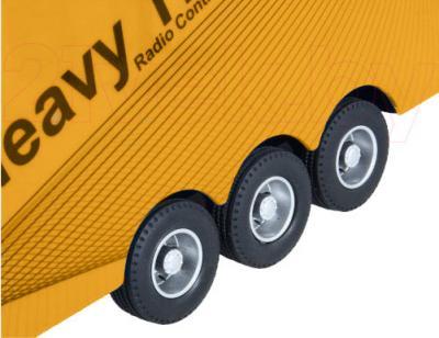 Радиоуправляемая игрушка Rui Chuang Фура Mercedes Benz Actros QY1101 (желтый) - резиновые колеса