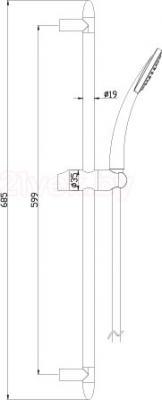 Душевой гарнитур LEMARK LM8067C - схема