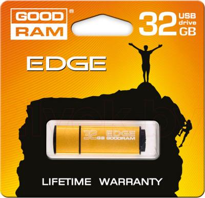 Usb flash накопитель Goodram Edge Gold 32GB (PD32GH2GREGDR9) - упаковка