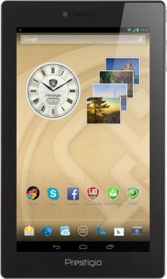 Планшет Prestigio MultiPad 4 Diamond 7.0 3G (PMP7070C3G_BK_CIS) - фронтальный вид