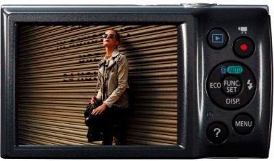 Компактный фотоаппарат Canon IXUS 150 (Gray) - вид сзади