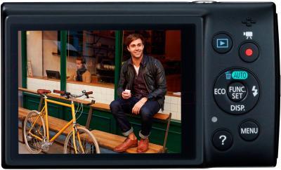 Компактный фотоаппарат Canon IXUS 155 (Black) - дисплей