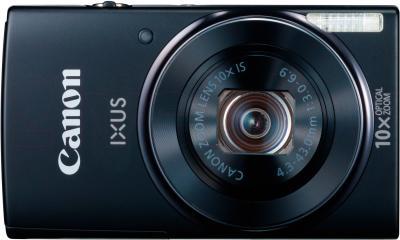 Компактный фотоаппарат Canon IXUS 155 (Black) - вид спереди