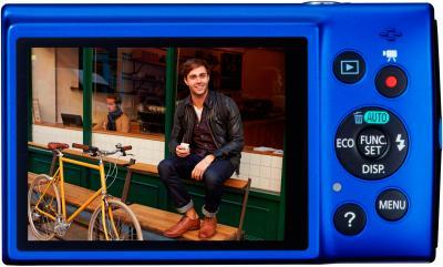 Компактный фотоаппарат Canon IXUS 155 (Blue) - дисплей