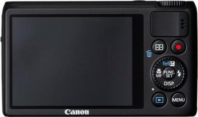 Компактный фотоаппарат Canon Powershot S200 (Black) - вид сзади