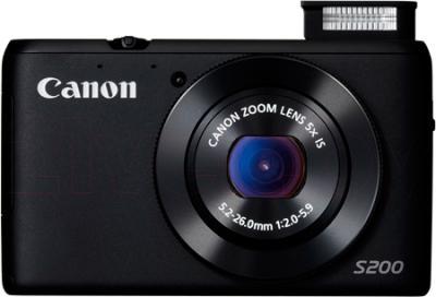 Компактный фотоаппарат Canon Powershot S200 (Black) - общий вид