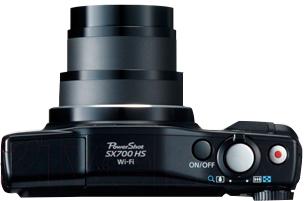 Компактный фотоаппарат Canon Powershot SX700 HS (Black) - вид сверху