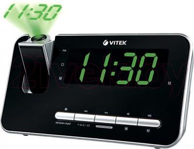 Радиочасы Vitek VT-6605 (черный) - общий вид