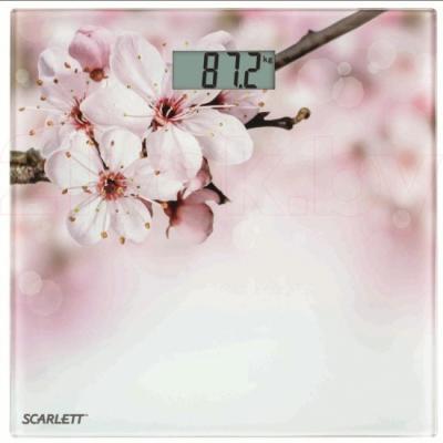 Напольные весы электронные Scarlett SC-BS33E001 (Sakura) - общий вид