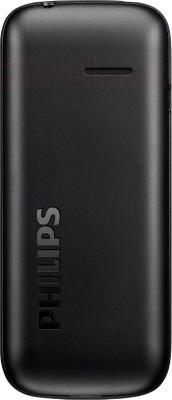 Мобильный телефон Philips E120 (черный) - вид сзади