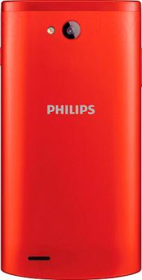 Смартфон Philips S308 (красный) - вид сзади