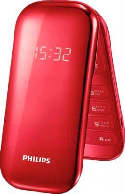 Мобильный телефон Philips E320 (Red) - общий вид