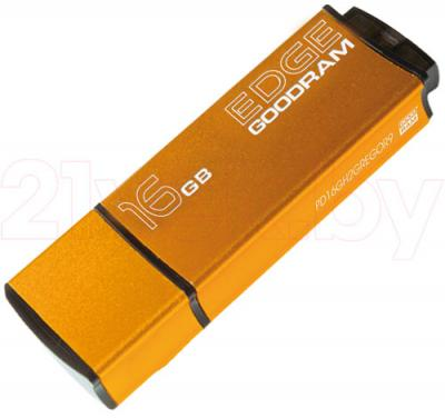Usb flash накопитель Goodram GOODDRIVE Edge 16 Gb Orange (PD16GH2GREGOSR) - общий вид