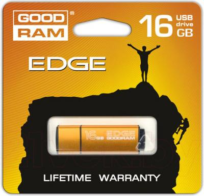 Usb flash накопитель Goodram GOODDRIVE Edge 16 Gb Orange (PD16GH2GREGOSR) - упаковка