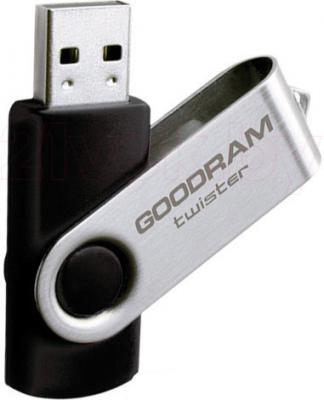 Usb flash накопитель Goodram Twister 16GB Black (PD16GH2GRTSKR9) - общий вид