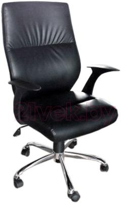 Кресло офисное Деловая обстановка Неон Хром MFM (темно-коричневый) - реальный цвет не соответствует