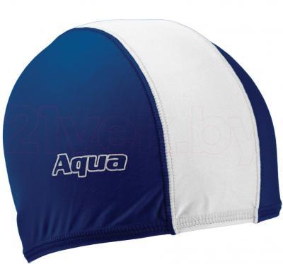 Шапочка для плавания Aqua 352-07321 (White-Blue) - общий вид