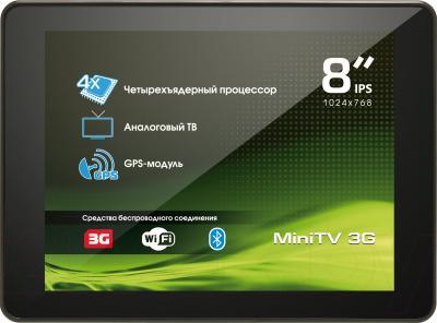 Планшет Explay MiniTV (8GB, 3G, Black) - фронтальный вид