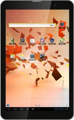 Планшет TeXet X-pad NAVI 8.1 TM-8056 (8GB, 3G, Black) - фронтальный вид