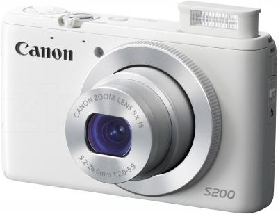 Компактный фотоаппарат Canon Powershot S200 (White) - общий вид