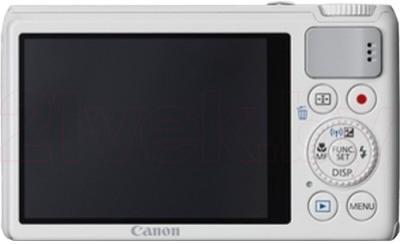 Компактный фотоаппарат Canon Powershot S200 (White) - вид сзади