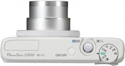 Компактный фотоаппарат Canon Powershot S200 (White) - вид сверху