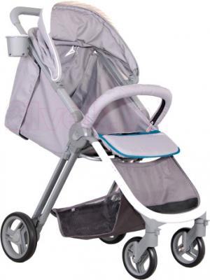 Детская прогулочная коляска Coletto Cosimo (Gray) - с опущенной спинкой