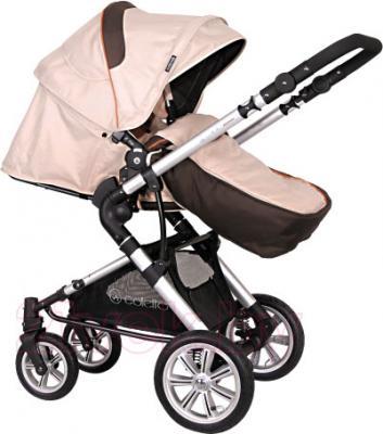 Детская универсальная коляска Coletto Giovanni 3 в 1 (бежевый) - прогулочный вариант
