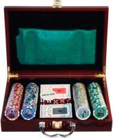Набор для покера NoBrand 6642-S1 (в чемодане, 200 фишек) -