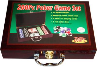 Набор для покера NoBrand 6642-S1 (в чемодане, 200 фишек) - общий вид