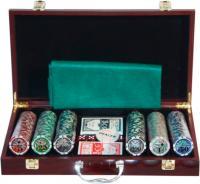 Набор для покера NoBrand 6643-B1 (в чемодане, 300 фишек) -