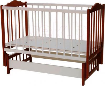 Детская кроватка Bambini Э01.10.03 (Белая-Орех) - общий вид