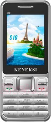 Мобильный телефон Keneksi S10 (серебристый) - общий вид