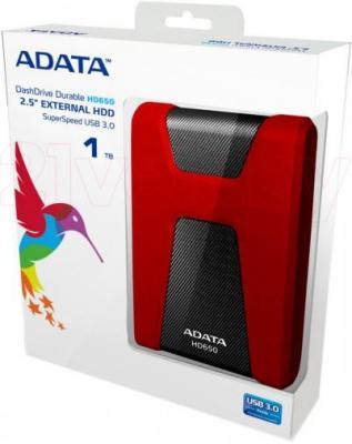 Внешний жесткий диск A-data DashDrive Durable HD650 500GB (AHD650-500GU3-CRD) - упаковка