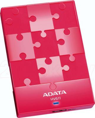 Внешний жесткий диск A-data HV611 1TB Pink (AHV611-1TU3-CPK) - общий вид