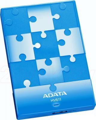 Внешний жесткий диск A-data HV611 1TB Blue (AHV611-1TU3-CBL) - общий вид