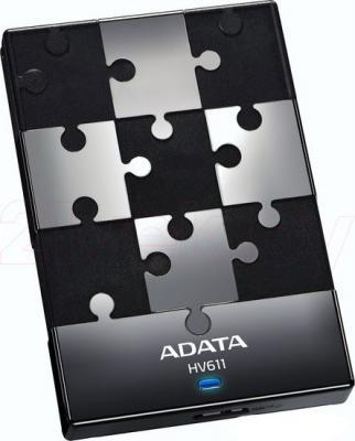 Внешний жесткий диск A-data HV611 1TB Black (AHV611-1TU3-CBK) - общий вид