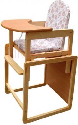 Стульчик для кормления Апельсиновая зебра Непоседа-8-Эко (сосна) - общий вид