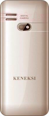 Мобильный телефон Keneksi S10 (золотой) - вид сзади