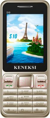 Мобильный телефон Keneksi S10 (золотой) - общий вид