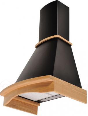 Вытяжка купольная Pyramida R 60 Black/U - общий вид