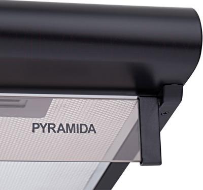 Вытяжка плоская Pyramida WH 22-50 Black/N - стеклянный козырек