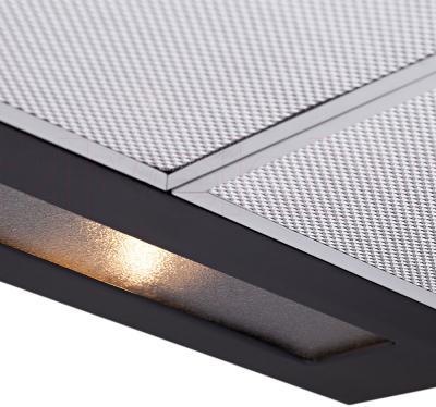 Вытяжка плоская Pyramida WH 22-60 Black/N - подсветка