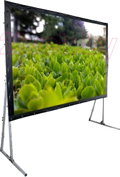 Проекционный экран Classic Solution Premier Corvus 386х294 (F 366x274/3 PW-PS/S) - общий вид