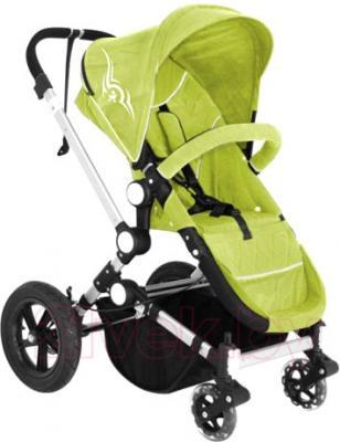 Детская универсальная коляска Lorelli Eclipse (Green) - прогулочный вариант